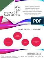 Engenharia Didática No Ensino de Matemática