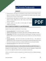 01 Computer Forensics Fundamentals - Notes