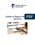 Guide to Report Writing