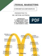 International Marketing MCD vs Cannaught plaza restaurant