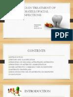 Antibiotics in Treatment of Oral Maxillofacial Infections