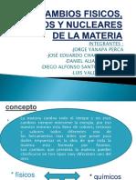 cambios fiscos y nucleares de la materia