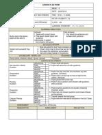 Lesson Plan Form- 26.02.19