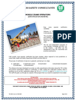 Team Safety Consultants-Certification Scheme Mobile Crane Operator