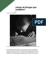El Falso Prólogo de Borges Que Resultó Verdadero