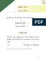 Grammar Lesson 13 Haal Sababiyyah