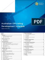 Australian Officiating Development Schedule