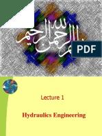 Hydraulics Lec # 01