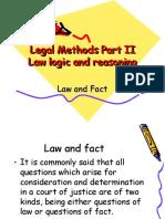 Law n Fact,Precedent,Logic n Reasoning
