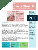 st saviours newsletter - 31 march 2019