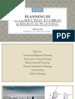 Urban & Regional Planning slides