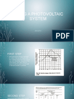 Sizing a Photovoltaic System