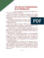 Curso Corto Sobre Fundamentos de Meditacion