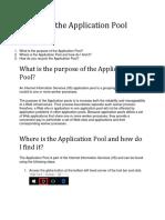 FAQ Recycling the Application Pool