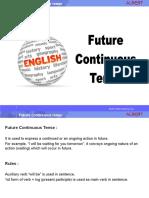Future Continuous Tense (1)