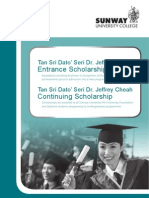 Entrance Scholarships - Sunway University College 2011