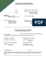 2010 Proxy Form