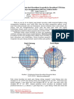Konversi Koordinat Geografis Ke UTM Dan Sebaliknya
