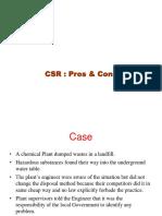 CSR Pros Cons
