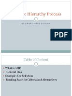 Analytic Hierarchy Process by Umar