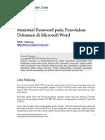 Buat Password Pencetakan Ms Word