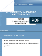 Topic 6 Env Risk Mgt