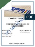 TP 2 Technologie de fabrication (Micromètre).docx