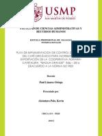 """PLAN DE IMPLEMENTACION DE CONTROL DE CALIDAD DEL CAFÉ ORGÁNICO PARA INCREMETAR LA EXPORTACIÓN DE LA  COOPERATIVA AGRARIA- CAFETALERA  """"BAGUA GRANDE"""".docx"""