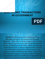 Electronic Transactions in Government