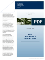 ACSI Automobile Report 2018
