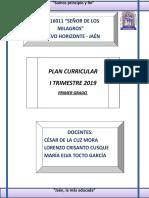 Esquema Plan Curr 2019 - Primero - i Trimestre