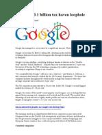 Google Tax Set Up