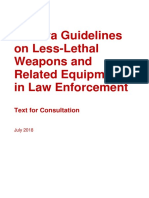 Geneva Guidelines on Less-Lethal Weapons and Related Equipment in Law Enforcement