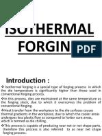 Isothermal forging