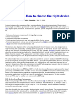 DSP or FPGA How to Choose the Right Device