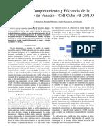 Analisis de la eficiencia de materia redox flujo de vanadio
