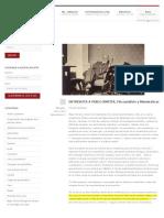 ENTREVISTA A PABLO AMSTER, Psicoanálisis y Matemáticas | Nel Medellín