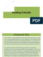 3. Reading Critically