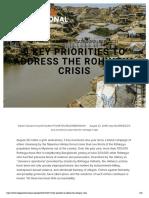 5 Key Priorities to Address the Rohingya Crisis — Refugees International