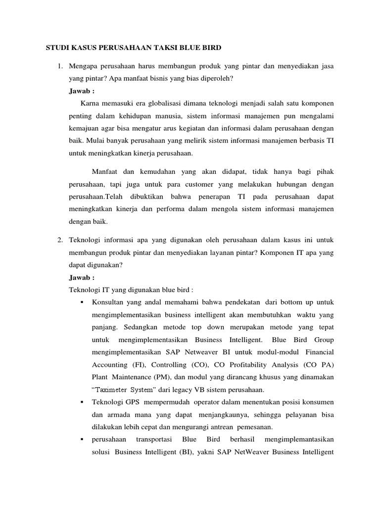 Studi Kasus Perusahaan Jasa