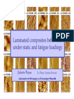 Laminated composite behaviour under stativ and fatigue loadings