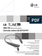 Lg Tone Pro Hbs-750 User Guide (Spanish)