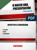 Cómo hacer una buena presentación.