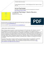 Educational Psychology in Teacher Education