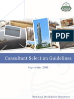 Consultant Selection Guidelines