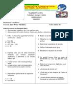 TALLER DE APLICACIÓN FINAL (FUNCIONES LINEALES Y AFINES)
