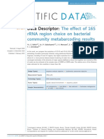 The effect of 16s rRNA region choise on bacterial community metabarcoding results
