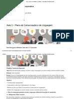 Aula 3 – Plano de Comunicação e de Linguagem – Comunicação e Educação Corporativa