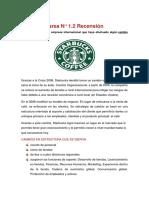 Tarea N° 1.2 Recensión Starbucks