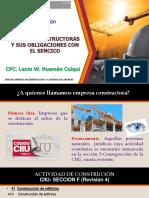 Empresas Constructoras y sus obligaciones con el SENCICO